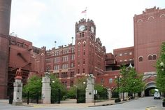 The majestic and BEAUTIFUL Anheuser Busch Brewery (Soulard neighborhood; St Louis, MO) So sad the Busch family let this company go.