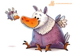 Daily Paint #1165. Hippogriff by Cryptid-Creations.deviantart.com on @DeviantArt