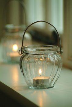 Glass Bell votive or candle holder at Garden Trading