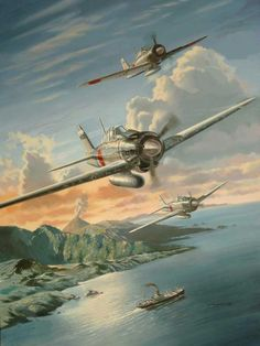 """""""Saburo Sakai's A6M2 Zero"""" by Benjamin Freudenthal."""