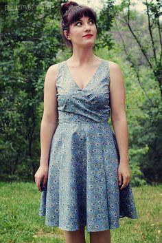 Peacock Flora dress by Paunnet Summer Dress Patterns, Summer Dresses, By Hand London, Flora Dress, Sewing Clothes Women, Minerva Crafts, Couture Sewing, Clothing Patterns, Sewing Patterns
