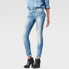 The G-Star Midge jean uses considered construction techniques to enhance the female silhouette.