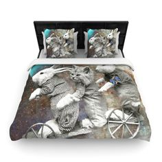 """Suzanne Carter """"Space Travel"""" Woven Duvet Cover from KESS InHouse"""