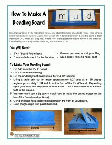 Make your very own blending board.  FREE consonant and vowel cards for building CVC words.