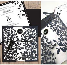 Lilykiss wedding invitation laser cut