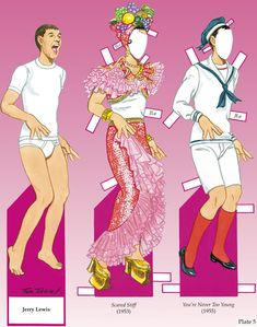 Jerry Lewis - Paper Doll plus outfits