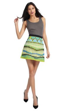 Lime Natalie Skirt by Peter Pilotto Now Available on Moda Operandi