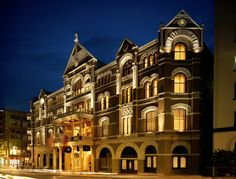 The Driskill - Austin, TX - built in 1886 - Exterior at night  (this is a Texas monument for sure, greatest place in Austin)