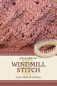 Round Loom Knitting, Loom Knitting Stitches, Knifty Knitter, Loom Knitting Projects, Yarn Projects, Knitting Ideas, Loom Bands, Loom Crochet, Tear