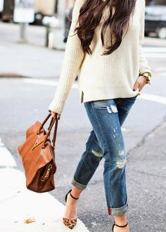 Spring Trend: Boyfriend Jeans + Heels | The Daily Dose