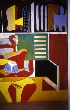 One of eight murals painted by Le Corbusier on the walls for E-1027 in the late…