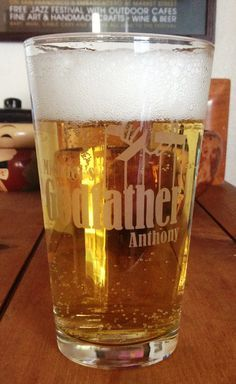Godparent One Pint Beer Glass gift Godfather or Godmother Gifts Godparent Baptism or Birthday Christmas Gift