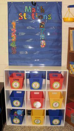 interesting idea for organizing math centers.