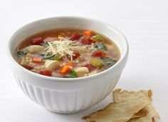 Chicken and Pastina Soup Award-winning TV chef Michael Chiarello shares a recipe created with Progresso® chicken broth and tomatoes. Chef Recipes, Food Network Recipes, Italian Recipes, Soup Recipes, Cooking Recipes, Chicken Pastina Soup Recipe, Chili Soup Recipe, Tv Chefs, Soups And Stews
