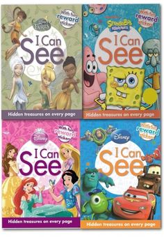 Disney I Can See Collection 4 Books Set With Hidden Treasures and Reward Stickers by Disney #Disney #stickers #Childrensbook #Princess #Cars  http://www.snazal.com/disney-i-can-see-collection-4-books-set-with-hidden-treasure--DEALMAN-U5-ICanSee-4bks.html