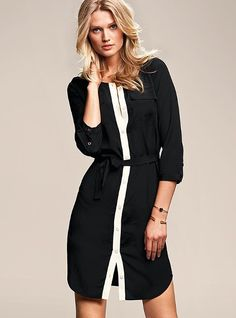 Colorblock Shirt Dress #VictoriasSecret http://www.victoriassecret.com/clothing/dresses/colorblock-shirt-dress?ProductID=61416=OLS?cm_mmc=pinterest-_-product-_-x-_-x