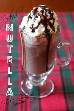 Spiked Nutella Hot Chocolate by Nutmeg Nanny