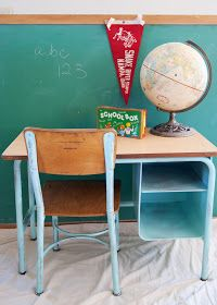 School desk and chair makeover averie lane diy supplies 2018 hacks modern furniture