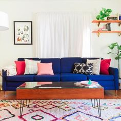 Are you preparing to sell your house? Do you need tips and tricks to help you stage a home for sale? This comprehensive home staging checklist will help you make your home look its best when you're selling. Get expert tips from HouseLogic now. Colorful Couch, Colourful Living Room, Eclectic Living Room, Living Room Colors, Living Room Sofa, Living Room Designs, Living Room Decor, Living Rooms, Eclectic Decor