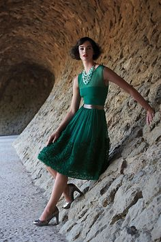 no, I'm not trying to get married in green, but oh! how I wish they made this dress in cream or ivory.