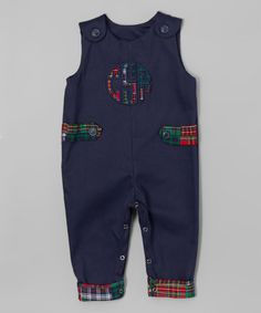 Another great find on #zulily! Navy Monogram Overalls - Infant & Toddler #zulilyfinds