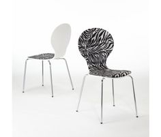 by Home Origin | Seville Zebra Set of 2 Birchwood Chairs