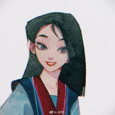 Mulan's Transformation by Asenimo on Dmitory Anime Disney, Disney Pixar, Punk Disney, Art Sketches, Art Drawings, Drawing Faces, Disney Concept Art, Disney Fan Art, Pretty Art