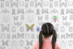(via Canvas on Demand) 1. Coloring wallpaper.  What kid doesn't love coloring on the walls?  With coloring wallpaper you can keep kids entertained and even have it double as a backdrop for a photobooth!  All you need is a piece of the wallpaper and markers, crayons or colored pencils and you're good to go. 2. Kid …