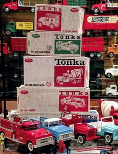 Tonka Trucks, Tonka Toys, Vintage Toys, Retro Vintage, 1960s Toys, Child Hood, Thanks For The Memories, Metal Toys, Ol Days