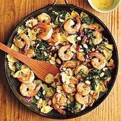 Warm+Pasta+Salad+with+Shrimp+|+MyRecipes.com