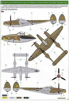 Lockheed P 38 Lightning, Army History, Flying Boat, World War Ii, Sailing Ships, Ww2, Planes, Paint Colors, Air Force