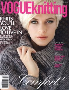 Inside the current issue of Vogue Knitting Magazine Vogue Knitting, Knitting Books, Crochet Books, Free Knitting, Knitting Projects, Knit Crochet, Hippie Crochet, Knitting Tutorials, Crochet Woman