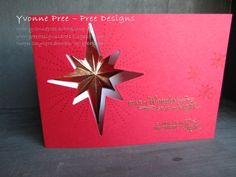 Star of Light, Starlight Thinlits, 2016 Holiday Catalogue, Stampin' Up!, Pree Designs, Yvonne Pree