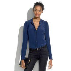 Silk Pajama Blouse - blouses - shopmadewell's SHIRTS & TOPS - J.Crew