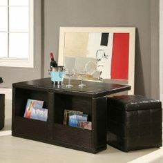 Faux Leather Coffee Table - Foter