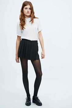 Cooperative by Urban Outfitters Pleated Skort in Black - Urban Outfitters