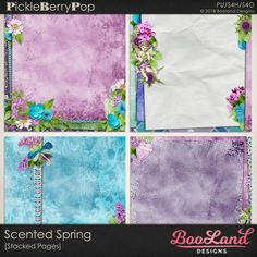 Scented Spring -Stacked Pages Pack By BooLand Designs