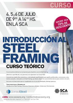 SCA | INTRODUCCIÓN AL STEEL FRAMING  La Sociedad Central de Arquitectos abre la inscripción para el curso de Steel Framing, que se realizará del 4 al 6 de julio.  Más info: http://ly.cpau.org/2thAhGi?utm_content=buffer34be8&utm_medium=social&utm_source=pinterest.com&utm_campaign=buffer  #AgendaCPAU #RecomendadoARQ