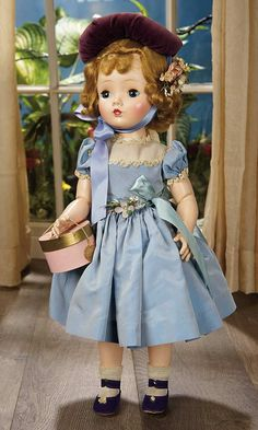 "Madame Alexander (USA) — 18'' Hard Plastic Fashionable Doll ""Sweet Violet"", 1954 (659x1100)"