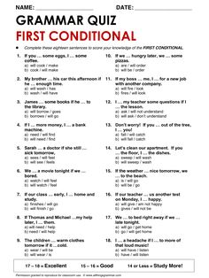 English Grammar First Conditional www.allthingsgrammar.com/first-conditional.html