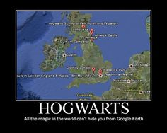 Hogwarts as seen from Google Earth!  Obviously it's real. Let's go. Right now.
