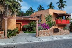 The front entrance of Casa Candiles, Ixtapa, Mexico. by Rob Huntley, via Flickr