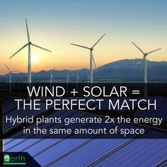 A new study finds that solar and wind power generation complement each other better than previously thought, generating double the power in the same surface area.  Meanwhile, the price of solar energy is dropping, not by 6% as a few years ago, but by close to 20% !!