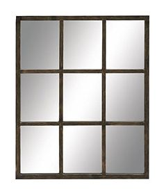 "Deco 79 53251 Wood Wall Mirror, 27"" x 34"" Deco 79"
