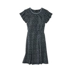 Jason Wu for Target® Short-Sleeve Printed Cycle Dress with Pearls in Black