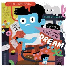 . Knock Knock, Felt, Instagram Posts, Illustrations, Felting, Illustration, Feltro, Illustrators
