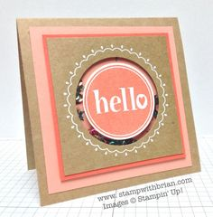 Hello Shaker Card by brian - Cards and Paper Crafts at Splitcoaststampers