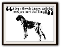 Boxer Dog Black and White Typography Poster Art
