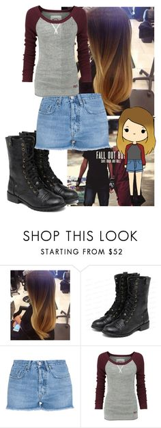 """Tumblr Girl~"" by skyexleanne ❤ liked on Polyvore featuring yeswalker, M.i.h Jeans and Superdry"