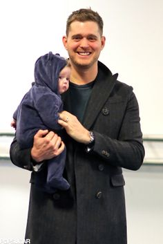 Noah & Michael Buble...seriously adorable!!!